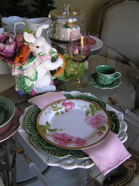 table scapes do you have your bunny for your easter tablescape green