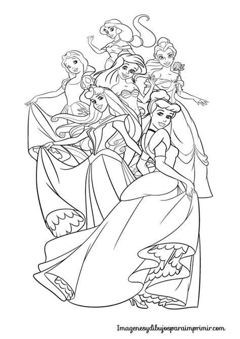 dibujos para colorear pdf para colorear princesas disney para colorear
