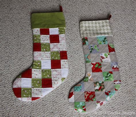 quilted stocking tutorial gooba designs quilted patchwork stocking with cuff tutorial