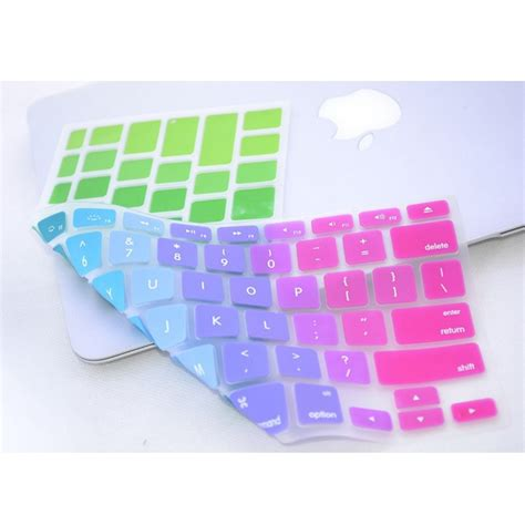 Color Silicone Keyboard Macbook Air 13 Pro 13 rainbow color silicone keyboard cover protector skin for