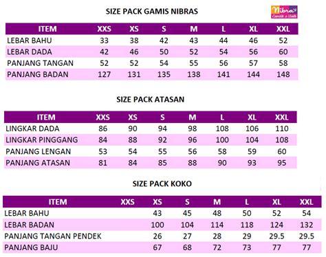 Gamis Anak Nibras Size size pack nibras rumah madani busana muslim