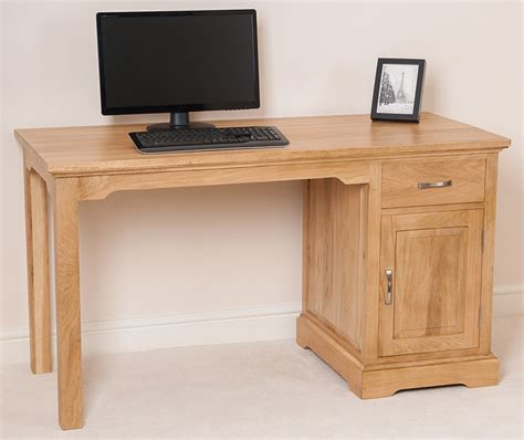 Small Oak Computer Desk Aspen Solid Oak Wood Small Computer Desk Office Studio Unit Furniture Ebay