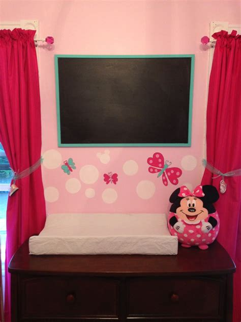 red minnie mouse bedroom decor minnie mouse nursery i like the dark pink curtains