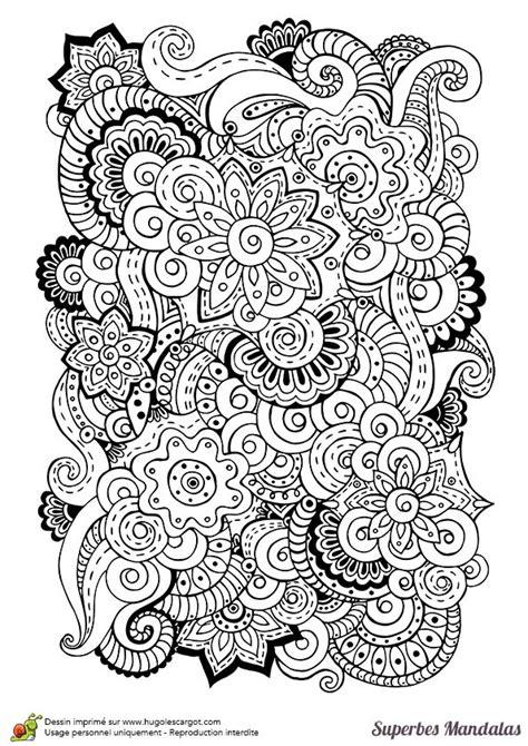 superbes mandalas melange fleurs coloriages zentangle
