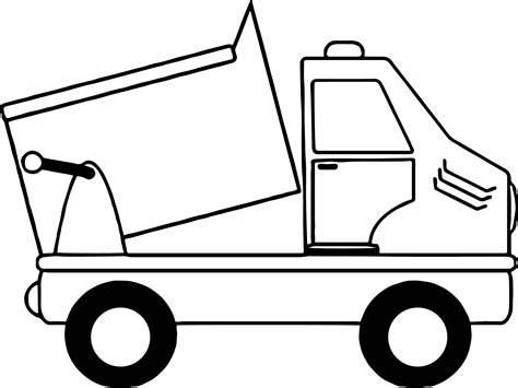 Simple Dump Truck Coloring Pages by Black And White Illustration Of Truck Or