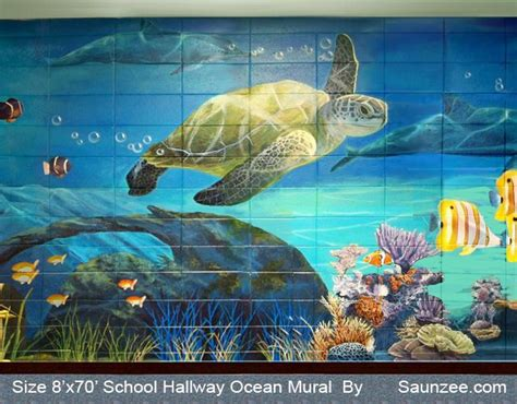 sea wall murals underwater mural mural octopus large painting in building murals water mural
