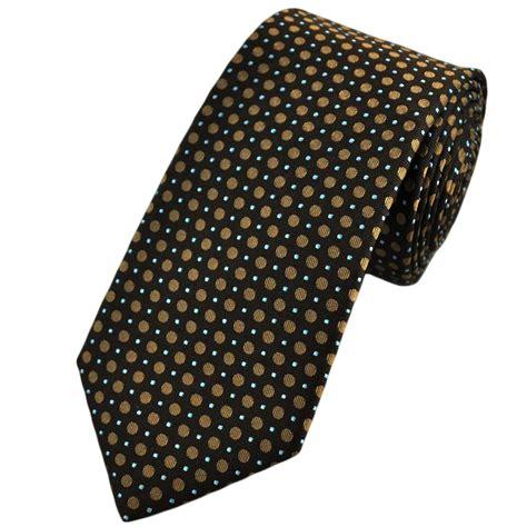 brown pattern tie chocolate brown beige blue dot patterned silk tie from
