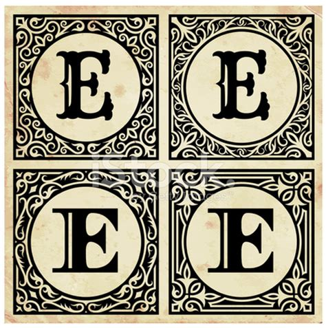 decorative paper letters old paper with decorative letter e stock photos