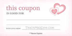 S Day Coupon Template by Day Blank Coupon Template Exle Helloalive