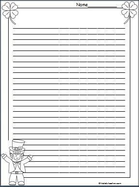 march printable stationary 89 best teaching in march images on pinterest st patrick
