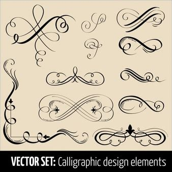 calligraphic text design elements vector calligraphy vectors photos and psd files free download