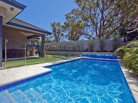 home pools photo of a geometric pool from a real australian home