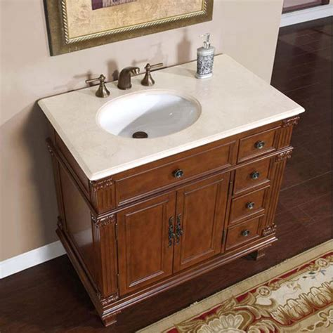 sinks and cabinets for bathrooms 36 inch single sink bathroom vanity with cream marfil