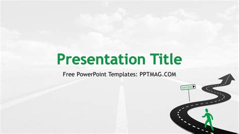 powerpoint template road free road to success powerpoint template pptmag