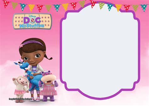 doc mcstuffins birthday card template doc mcstuffins birthday invitation templates free