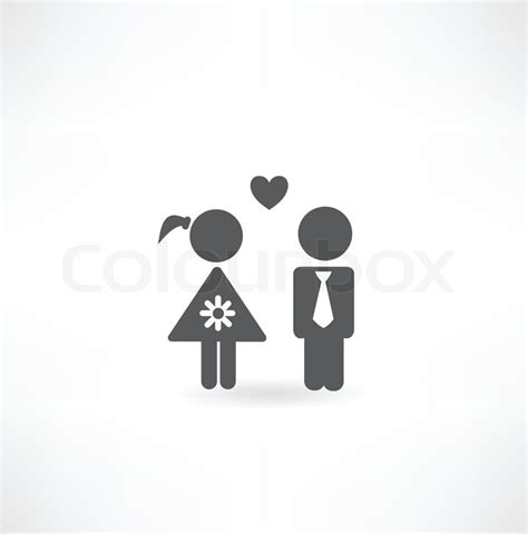 Symbol For Bathroom by Boy And In Love Icon Stock Vector Colourbox