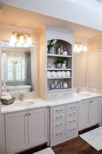 Master bathroom vanities in bathroom farmhouse with beige bathroom