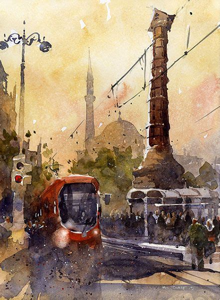 painting 101 why is my 54 best turkey in watercolour images on istanbul paisajes and turkey