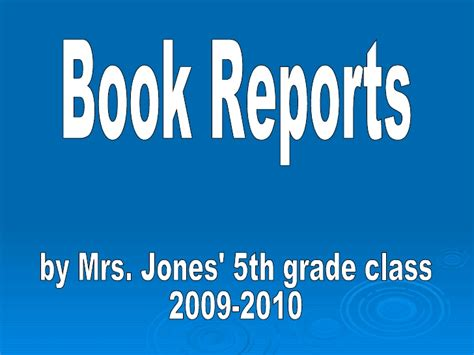 power point book reports j5