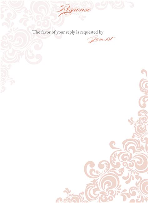 templates for wedding evening invites floral blank wedding invitation templates