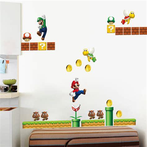 mario home decor classical mario wall stickers for room home decor zooyoo1444 mural