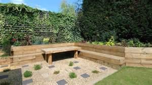 garden design loughton railway sleeper garden lougthon