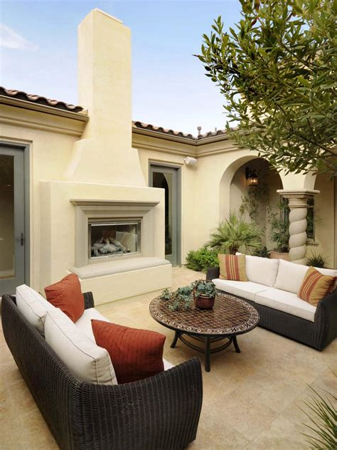 Stucco Fireplace Designs by Outdoor Wood Burning Fireplace Hgtv
