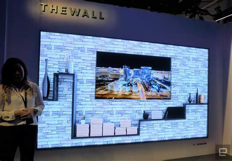 samsung wall tv our look at samsung s 146 inch 4k microled tv