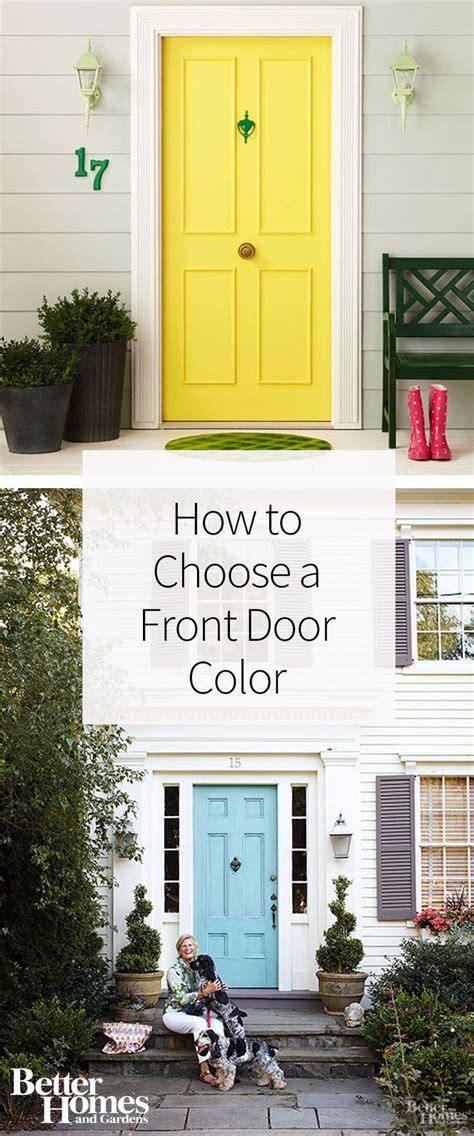 fool proof tips  choosing   front door color