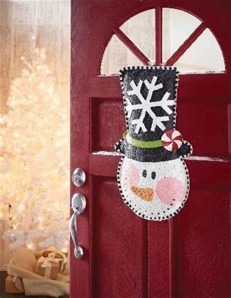 mud pie snowman burlap door hanger hanging sign winter
