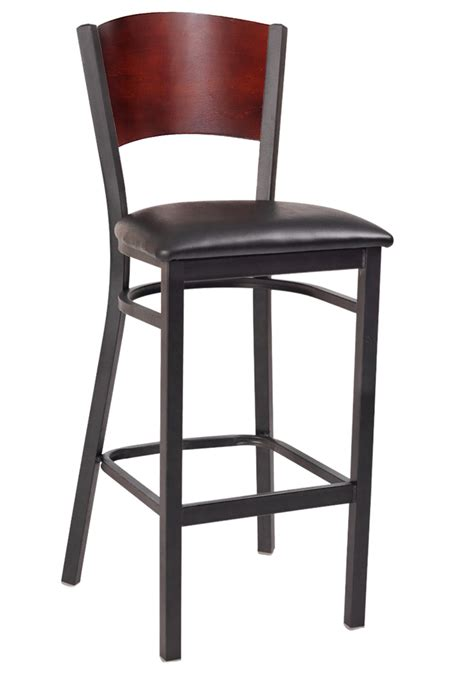 Metal Bar Stools With Backs Interchangeable Back Metal Bar Stool With Solid Back