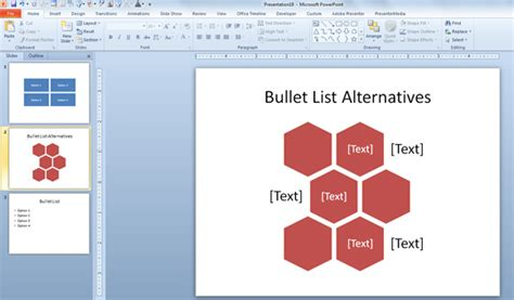design ideas not working powerpoint simple alternative to bullet points using text boxes