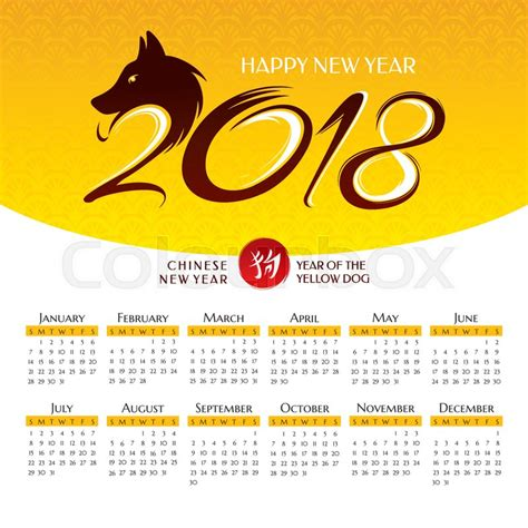 new year ox 2018 2018 year calendar with symbol of the year