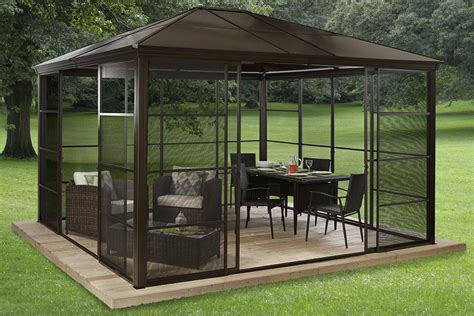 screen house gazebo outdoor metal gazebo screen houses pergola design ideas