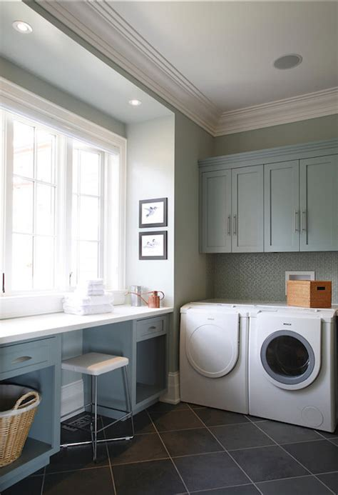 gray green paint colors contemporary laundry room