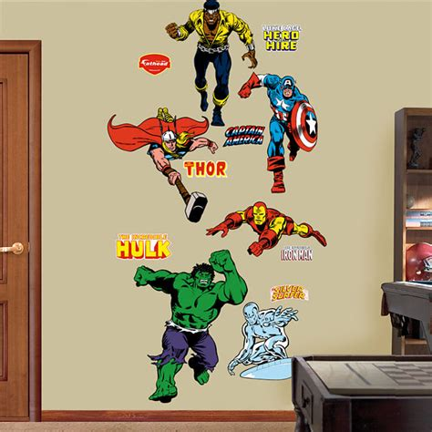 fatheads wall stickers fathead classic superheros collection wall graphic