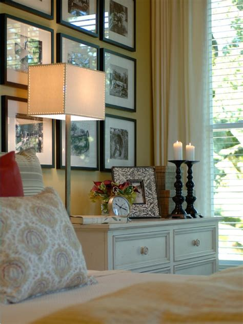bedroom picture frames 10 ways to display bedroom frames hgtv