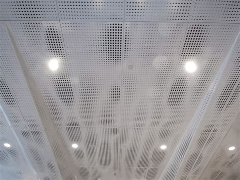 Perforated Ceiling by Details Of Perforated Ceiling Panel Patterns Toni Stabile Student Center Columbia