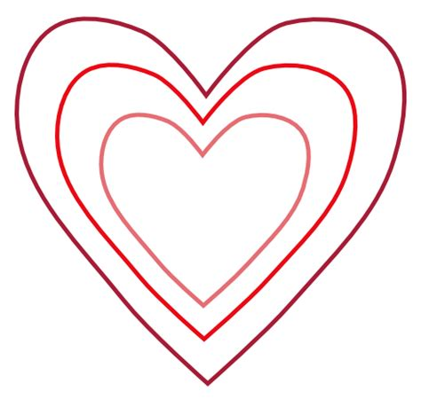 heart shape template clipart best
