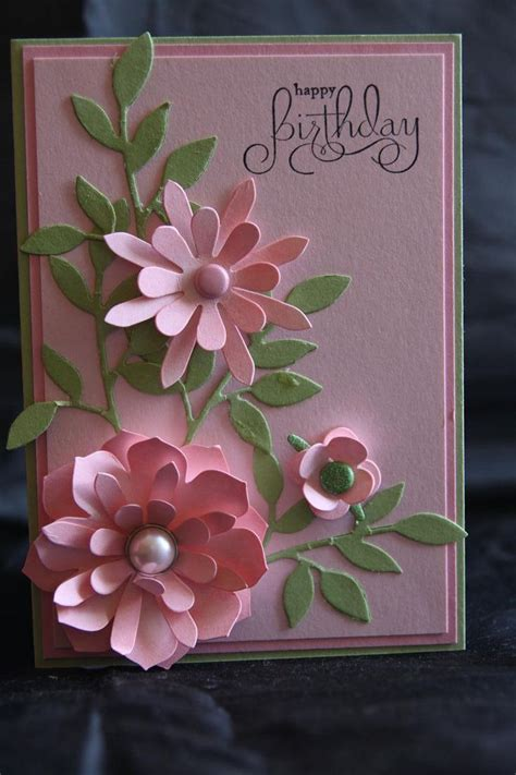 Handmade Cards With Flowers - 25 best ideas about flower cards on cards