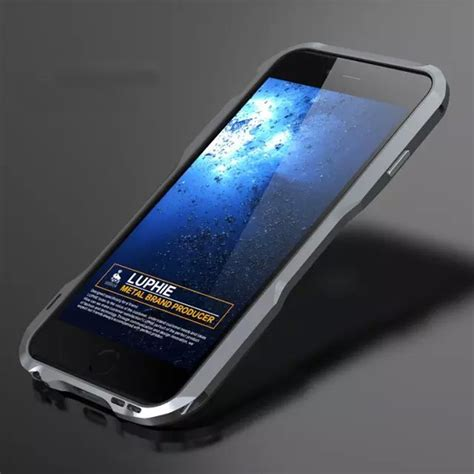 Bumper Metal Alumunium Iphone 6 ultra slim luphie aluminum frame metal bumper cover for iphone 6 6s 7 plus