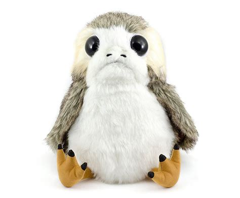 star wars the last jedi life sized porg animated plush