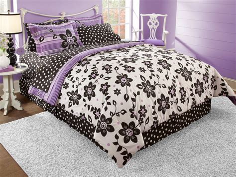 purple teen bedding bedroom black white and purple bedding for teenage girls