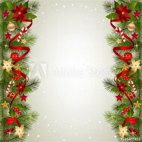 where to buy constructuve christmass wal paer background with fir branch border and decoration buy this stock vector and explore