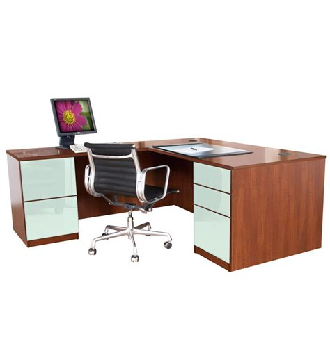 Alexis L Shaped Executive Desk Full Pedestal Left Return L Shaped Desk With Left Return