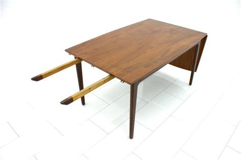 Wood Drop Leaf Table Teak Wood Drop Leaf Table 1960s For Sale At 1stdibs