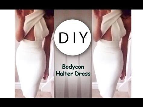 Hq 3712 Pattern Dress White diy bodycon halter dress
