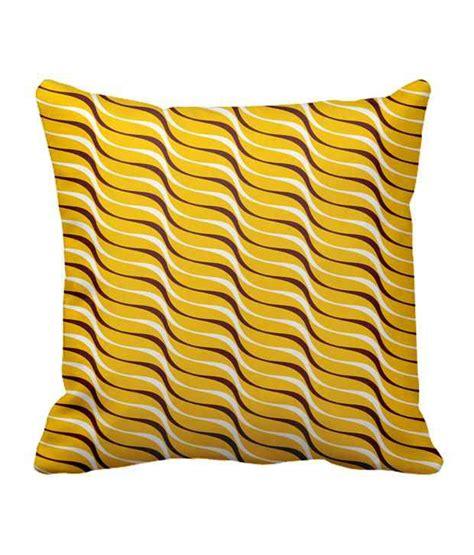 yellow pattern cushion covers sajawat homes yellow and black wave pattern cushion cover