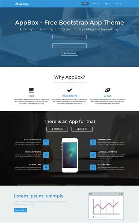 landing page template free 30 free responsive landing page templates 2015