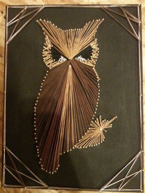 String Owl - string owl by laurie string